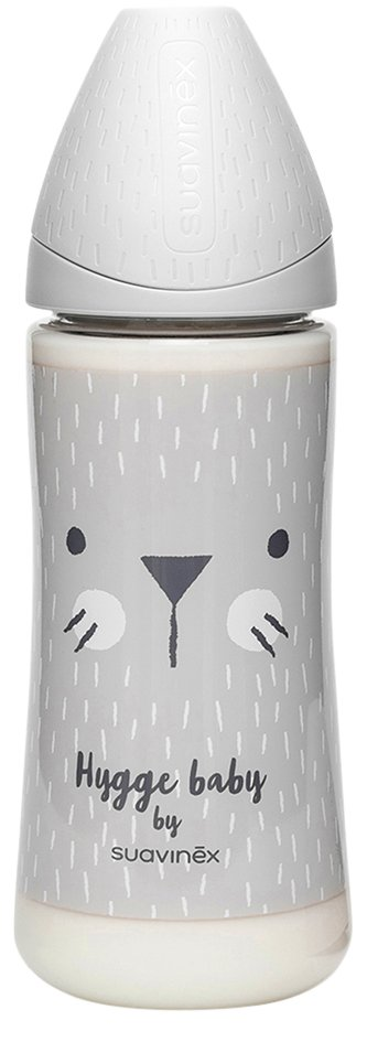 Suavinex Zuigfles Hygge Grey Whiskers 360 ml
