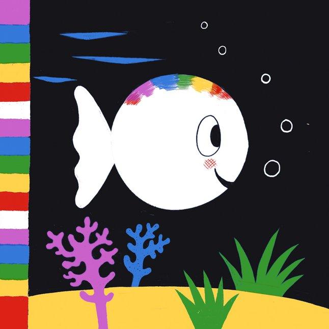 Afbeelding van Babyboek Klein Wit Visje from Dreambaby