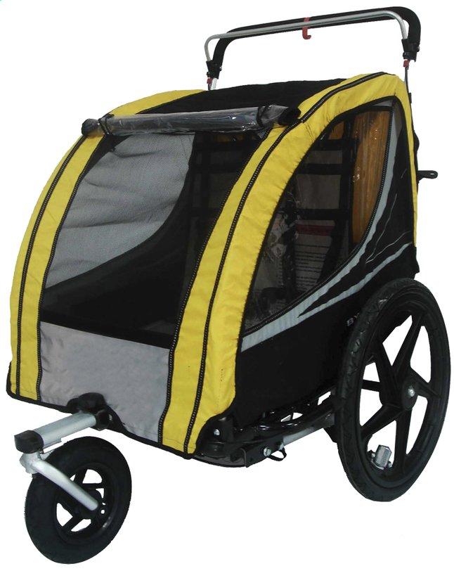 Image pour Remorque de vélo noir/jaune à partir de Dreambaby