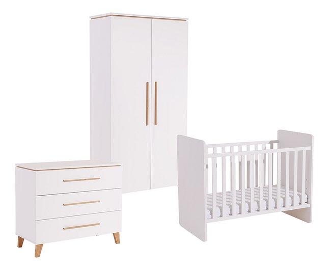 Image pour Transland Chambre évolutive 3 pièces avec armoire 2 portes Steffi blanc à partir de Dreambaby