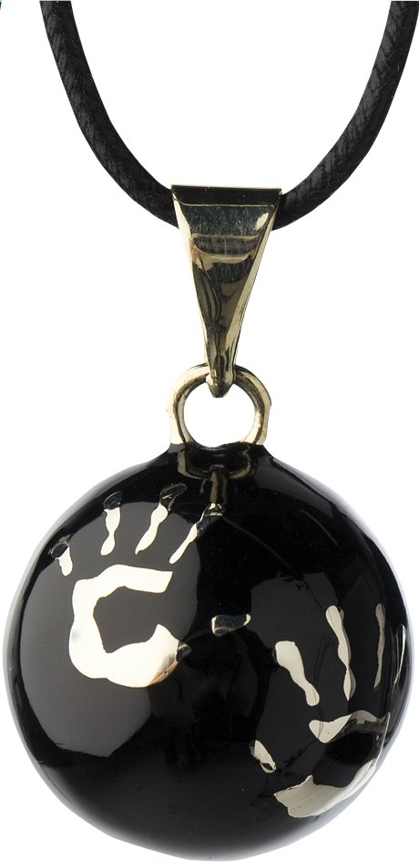 Afbeelding van Babylonia Zwangerschapsbelletje Bola met handjes zwart from Dreambaby