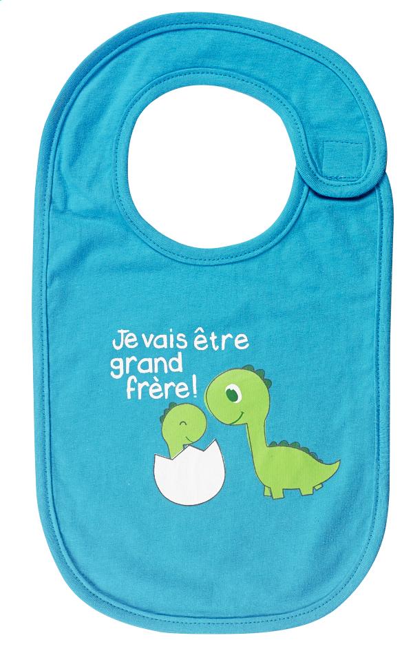 Image pour Bavoir Je vais être grand frère avec fermeture velcro turquoise à partir de Dreambaby