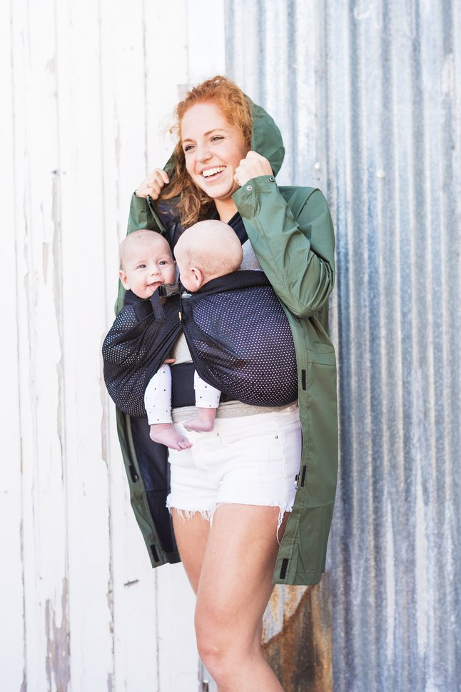 Minimonkey Porte-bébé ventral Twin mesh black