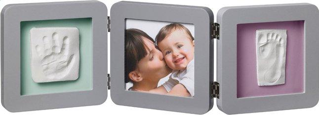 Afbeelding van Baby Art 3-delig fotokader met gipsafdruk grey from Dreambaby