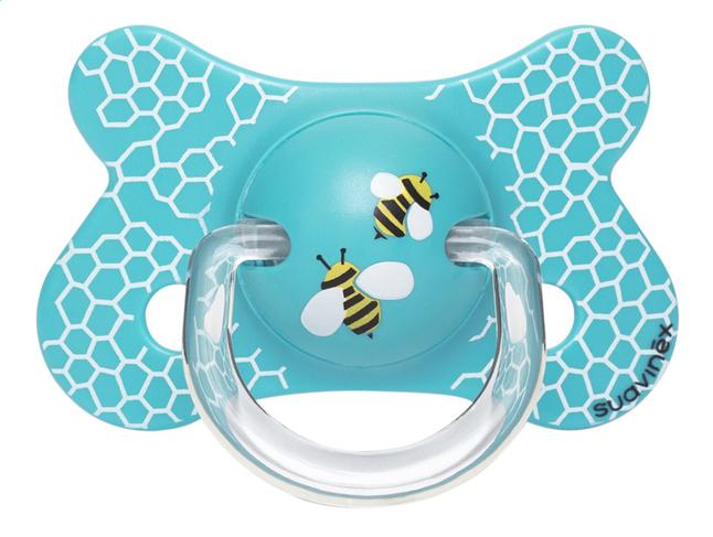 Afbeelding van Suavinex Fopspeen 4 - 18 maanden Fusion Honeycomb blauw from Dreambaby