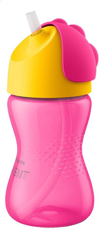 Philips AVENT Drinkfles met rietje Bendy roze 300 ml