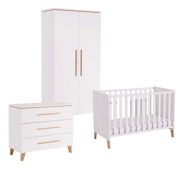 PAIDI 3-delige babykamer met kast met 2 deuren Steffi wit