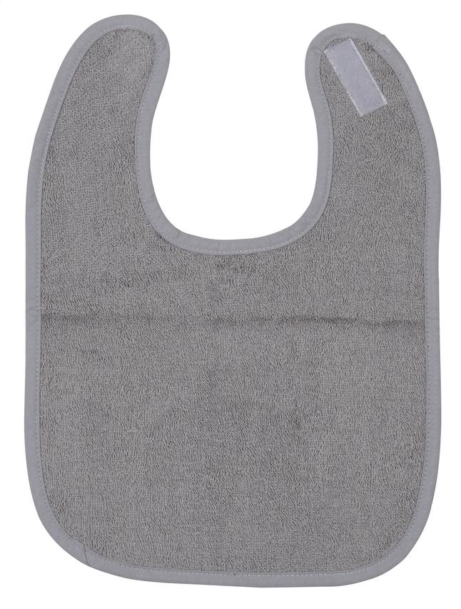 Afbeelding van Dreambee Slabbetje Essentials met velcrosluiting grijs from Dreambaby