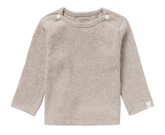 Noppies T-shirt met lange mouwen Rib Natal Taupe Grey