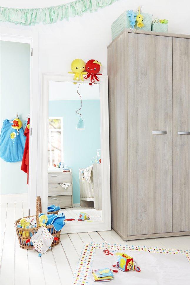 Afbeelding van 3-delige meegroeikamer met kast met 3 deuren Milo from Dreambaby