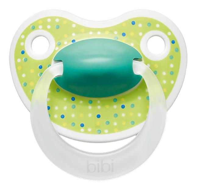 Bibi Fopspeen + 6 maanden Happiness Lovely Dots blauw/roze/groen