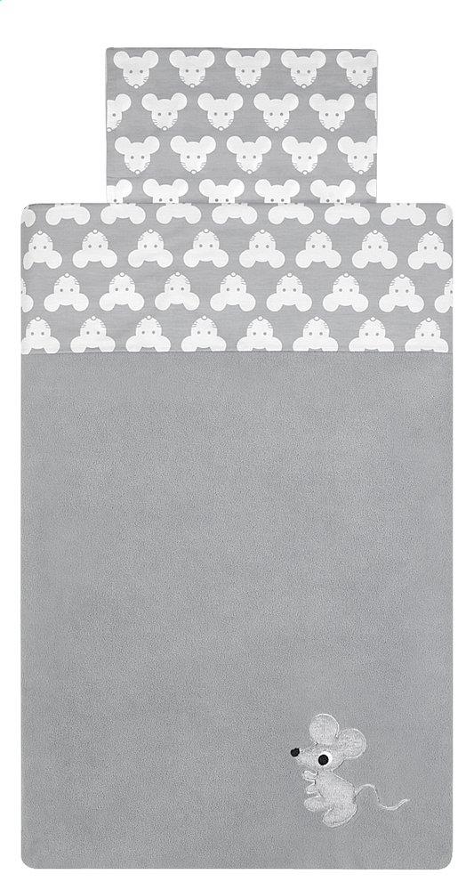 Afbeelding van Pericles Laken voor wieg of park Mouse Grey katoen from Dreambaby