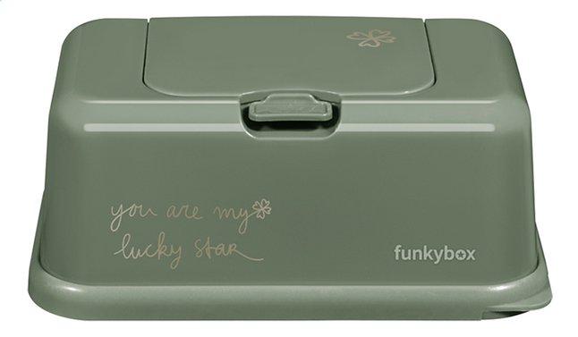 Afbeelding van FunkyBox Doos voor vochtige doekjes olive green from Dreambaby