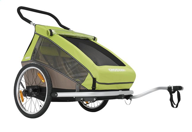 Afbeelding van Croozer Fietskar Kid for 2 Click & Crooze meadow green/sand grey from Dreambaby