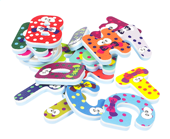 DreamLand Badspeelgoed letters & cijfers - 41 stuks