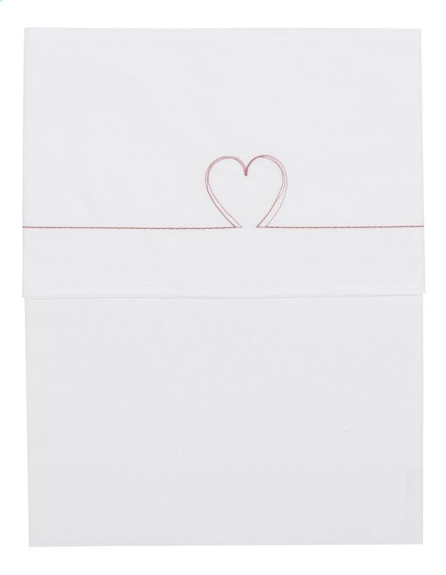 Image pour Koeka Drap pour lit Sweet Heart tea rose coton à partir de Dreambaby