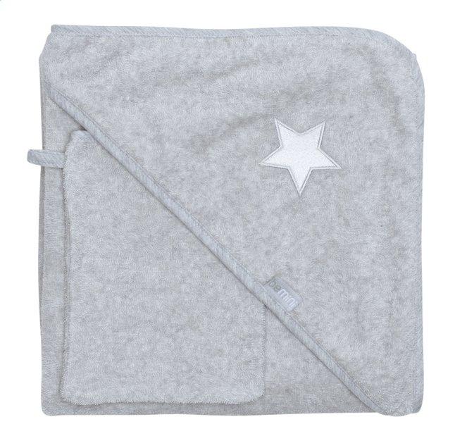 Image pour Bemini Cape de bain et gant de toilette Stary chiné grey à partir de Dreambaby