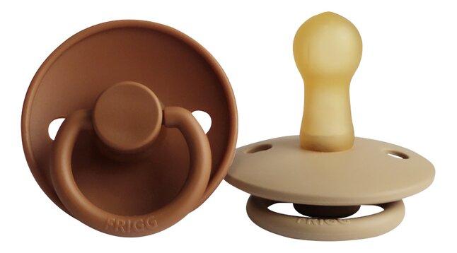 FRIGG Fopspeen + 6 maanden Classic M2 Cappuccino/Croissant - 2 stuks