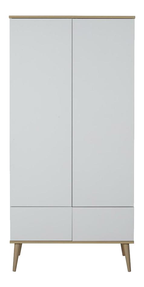 Quax Armoire 2 portes et 2 tiroirs Flow White & Oak