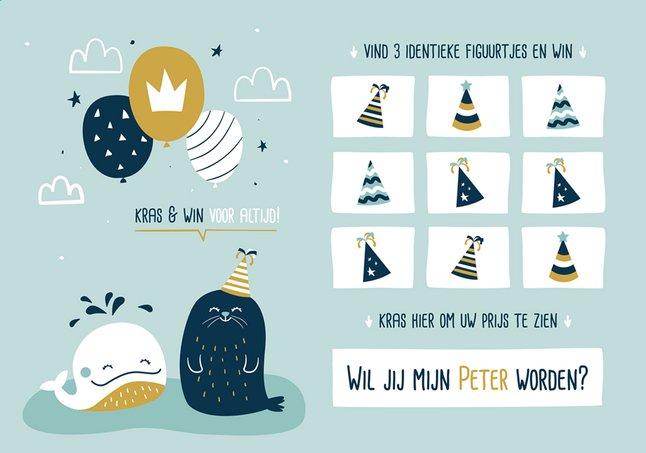 Afbeelding van Minimou Kraskaart Wil jij mijn peter worden? Sea party from Dreambaby