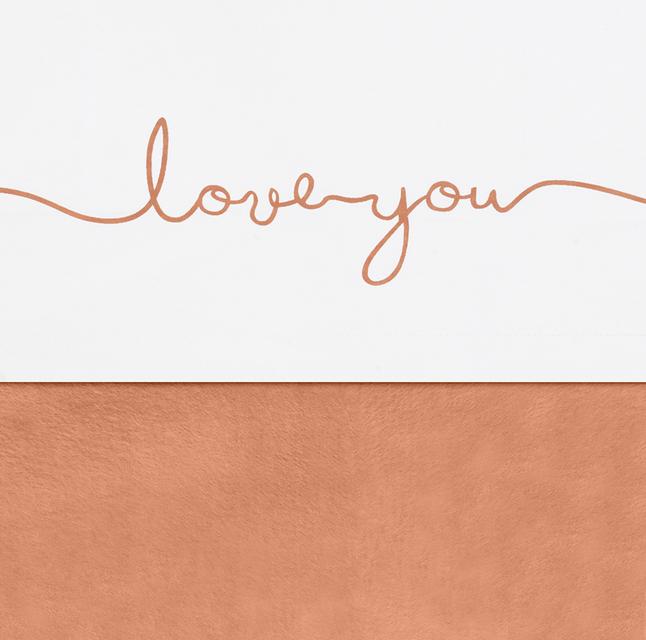 Jollein Laken voor bed Love You Caramel