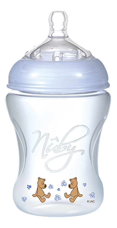 Afbeelding van Nûby Zuigfles Natural Touch blauw 240 ml from Dreambaby