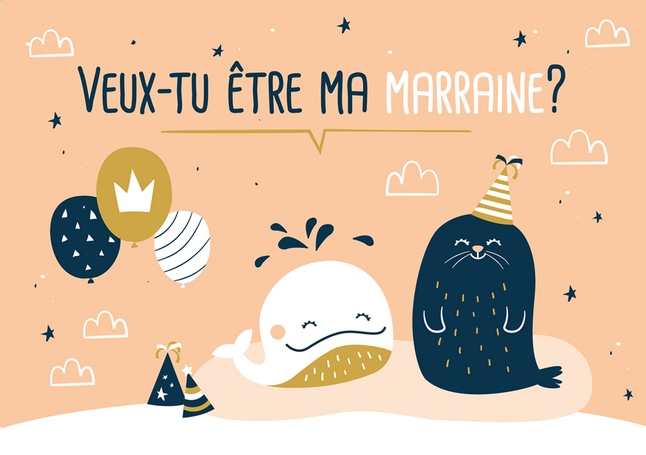 Afbeelding van Minimou Puzzel Veux-tu être ma marraine? Sea party from Dreambaby