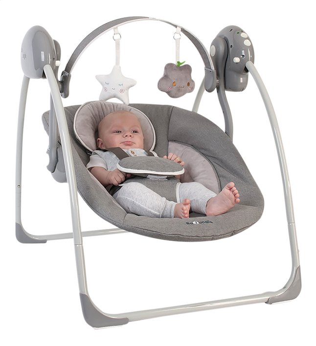 Afbeelding van Bo Jungle Babyswing B-Portable Swing grey from Dreambaby