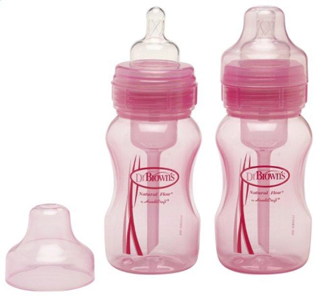 Image pour Dr. Brown's Biberon anticolique rose 240 ml - 2 pièces à partir de Dreambaby