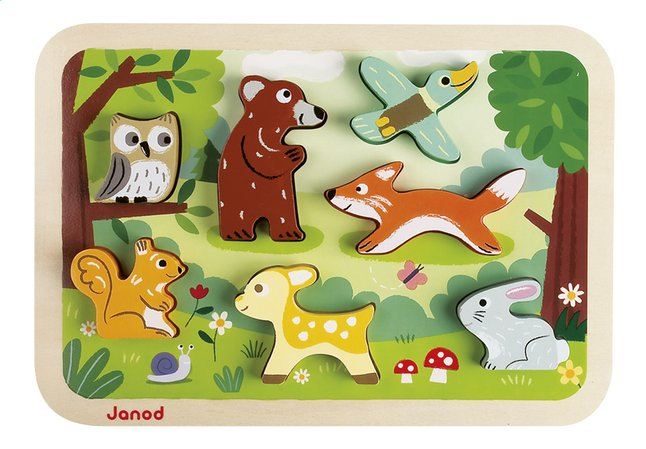 Afbeelding van Janod Puzzel Forest Chunky Puzzle from Dreambaby