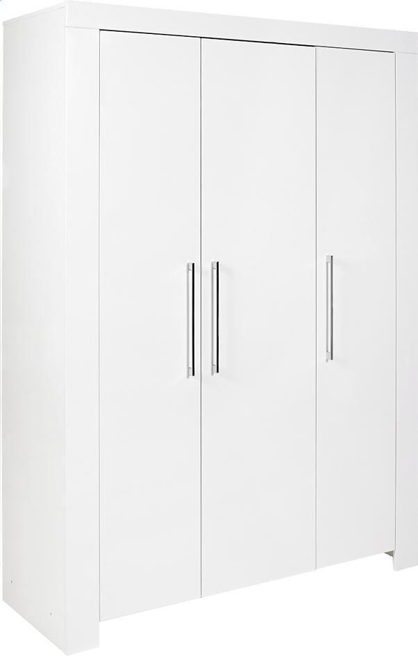 Image pour Transland Armoire 3 portes Yanis décor blanc à partir de Dreambaby