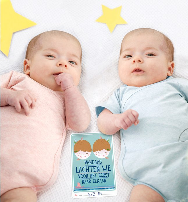 Afbeelding van Milestone Baby Cards Twins from Dreambaby