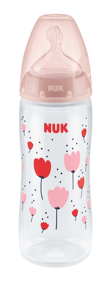 NUK Zuigfles First Choice+ roze 360 ml