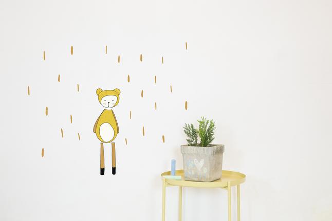 Image pour Chispum Sticker mural Bear Fabelab à partir de Dreambaby