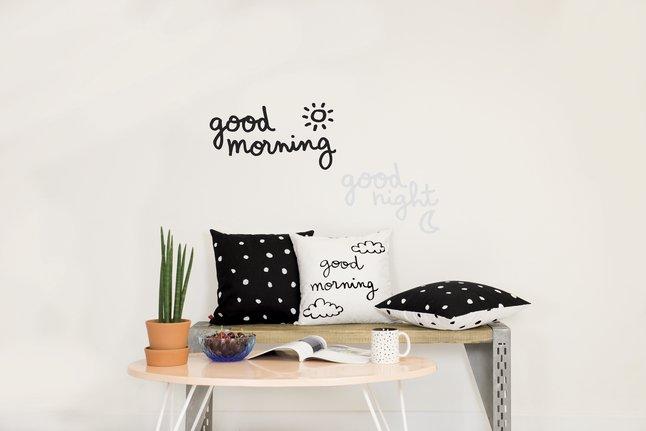 Chispum Muursticker Good Morning Glow