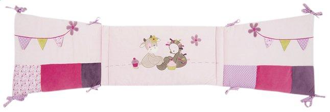 Afbeelding van Nattou Bedomranding Manon & Alizée bruin/roze katoen/polyester from Dreambaby