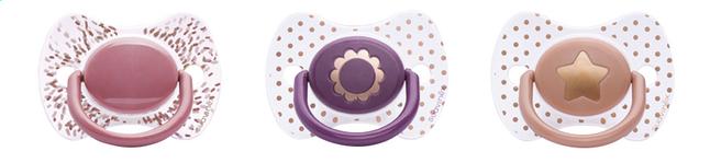 Afbeelding van Suavinex Fopspeen + 4 maanden Haute Couture poederroze/paars from Dreambaby