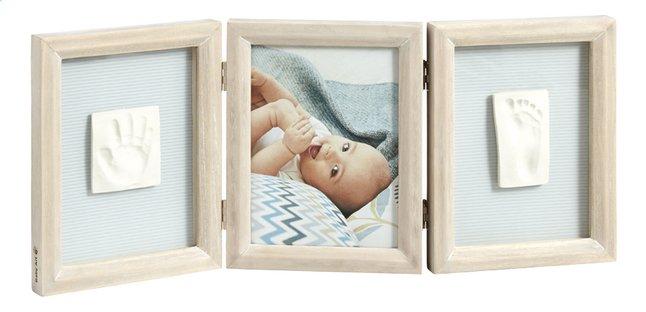 Afbeelding van Baby Art 3-delig fotokader met gipsafdruk Double print whitewash from Dreambaby