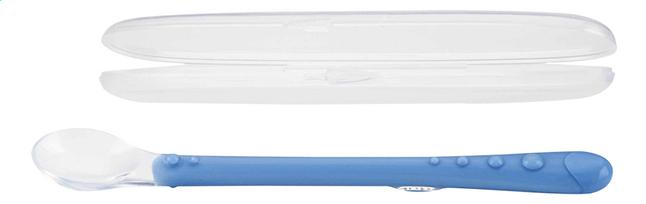 Afbeelding van Nûby Lepel van silicone in houdertje blauw from Dreambaby