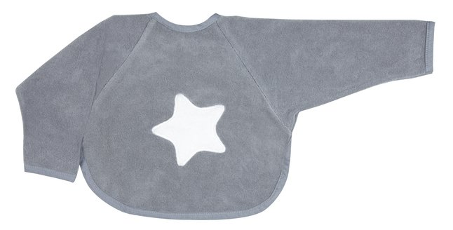 Image pour Dreambee Bavoir à manches Essentials à pression gris à partir de Dreambaby