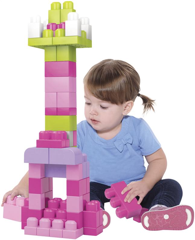 Mega Bloks Set de jeu First Builders Sac de blocs rose