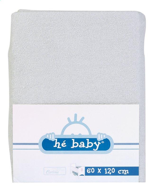 Image pour Hé Baby Drap-housse en éponge gris à partir de Dreambaby