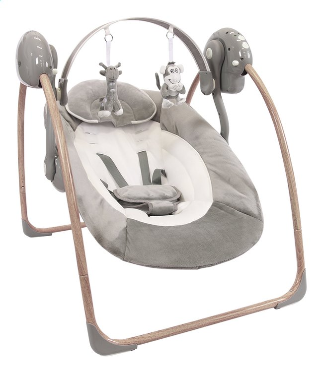Bo Jungle Babyswing B-portable wood grey