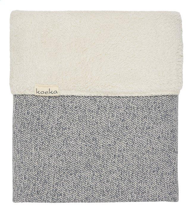 Koeka Deken voor wieg of park teddy/jacquard sparkle grey