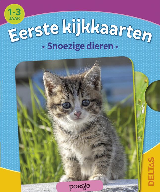 Afbeelding van Babyboek Eerste kijkkaarten - Snoezige dieren from Dreambaby