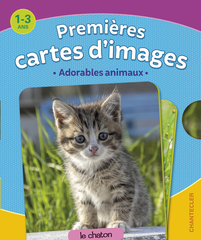 Afbeelding van Babyboek Premières cartes d'images - Adorables animaux from Dreambaby