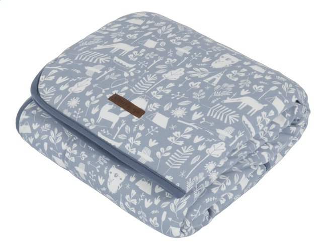 Afbeelding van Little Dutch Deken voor bed Adventure Blue Pure & Soft katoen/teddy from Dreambaby