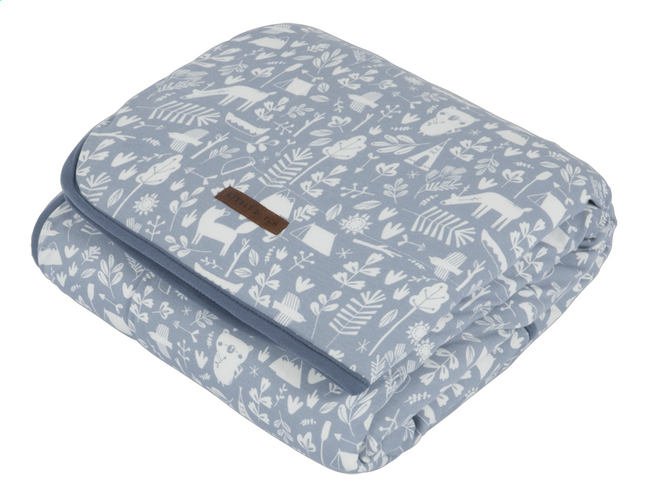 Image pour Little Dutch Couverture pour lit Adventure Blue Pure & Soft coton/teddy à partir de Dreambaby