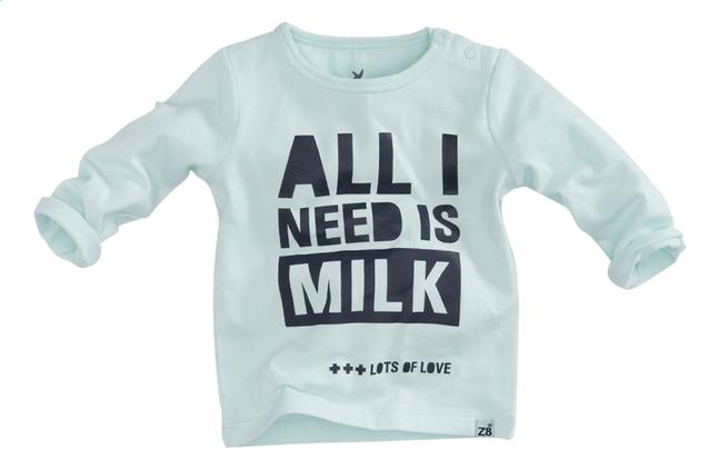 Afbeelding van Z8 T-shirt met lange mouwen Dandelion summer mint/navy from Dreambaby