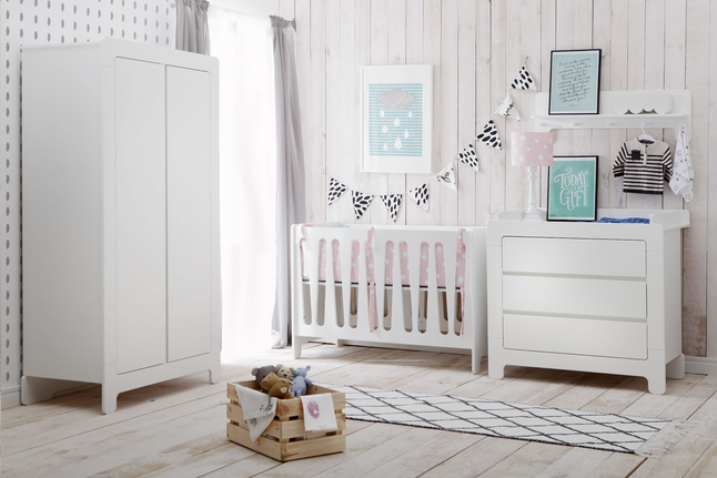 Deuren Voor Kinderkamers : Quax delige babykamer met kast met deuren sunny white dreambaby